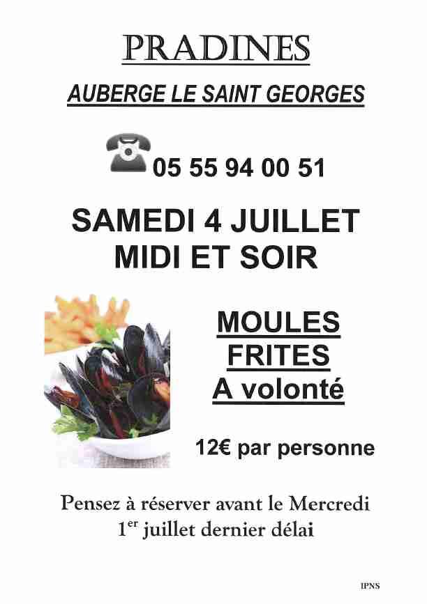 Moules frites du 04-07-20