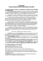 Réunion conseil municipal 02-05-21