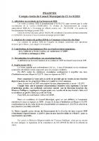 Réunion conseil municipal 15-04-21